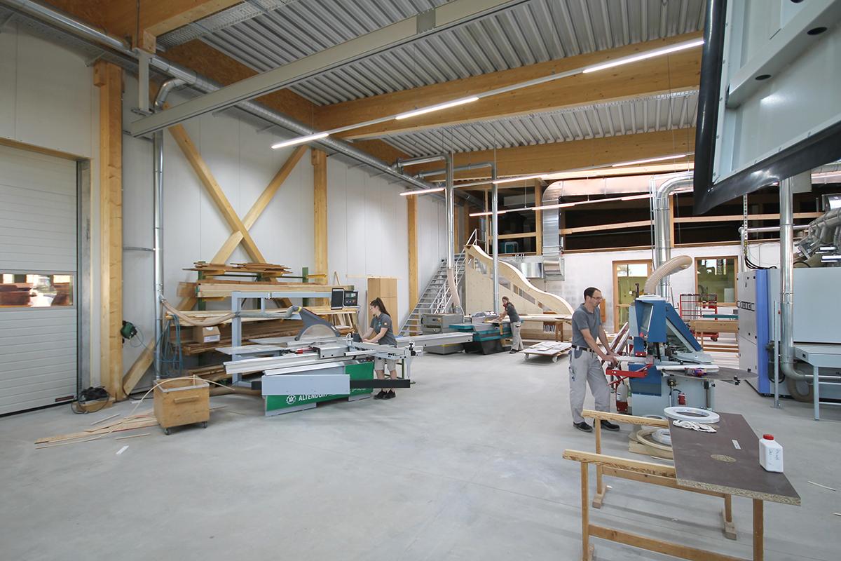 Innenansicht der neuen Maschinenhalle