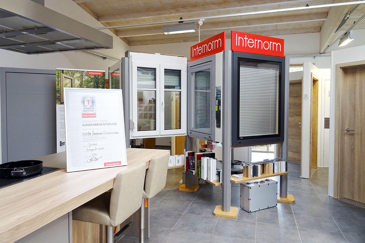 Ausstellung mit Internorm-Fenster