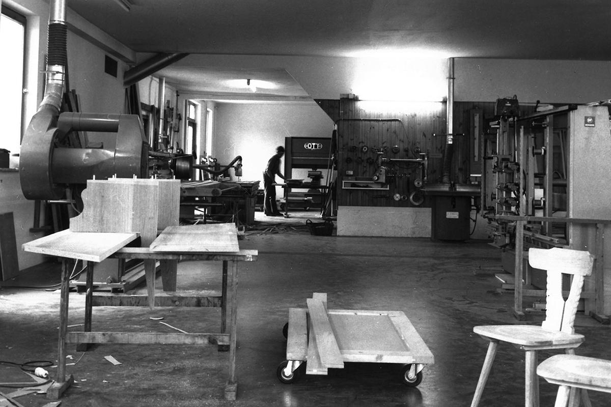 Ansicht Werkstatt Schreinerei 1988
