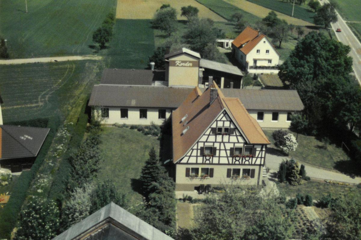 Luftaufnahme Anbau Bankraum 1980
