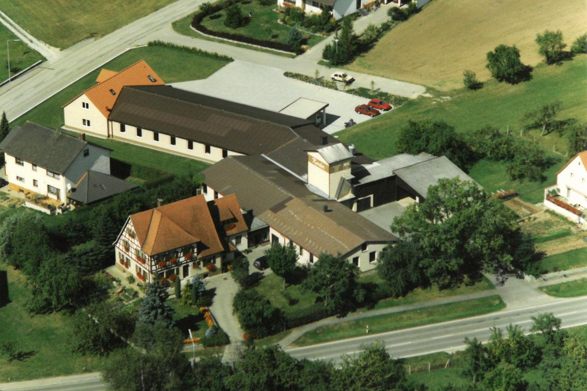 Luftaufnahme Schreinerei 1988