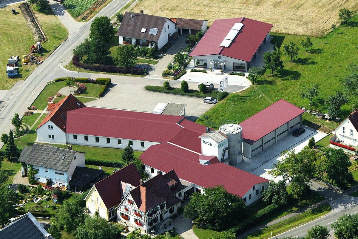 Luftaufnahme Schreinerei Korder 2004